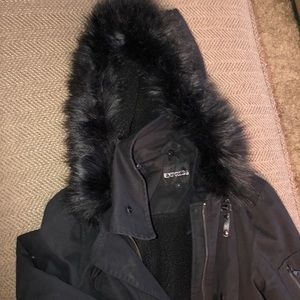 Express Jackets & Coats - Express parka with fur hood size S